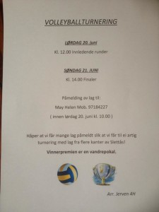 Slettåsdaga Volleyballturnering