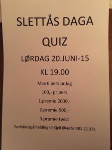 Slettåsdaga quizz